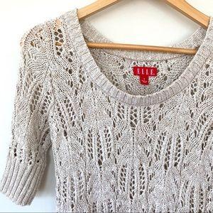 Elle open-knit short sleeved sweater